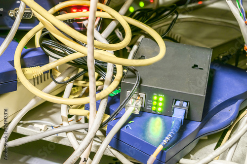 Awesome Chaotic Interlacing Of Wires Between The Modem And The Internet Wiring 101 Capemaxxcnl