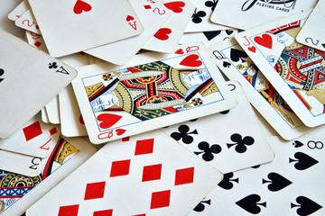 carte da poker, giocare con le carte