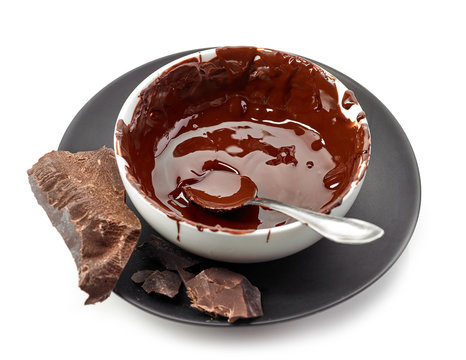 bowl of melted chocolate