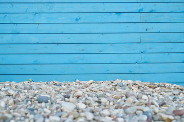 blue wooden texture with rocks