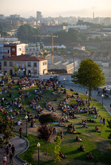 People Gathered at Jardim do Morro