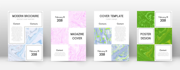 Abstract cover. Glamorous design template. Suminagashi marble business poster. Glamorous trendy abst