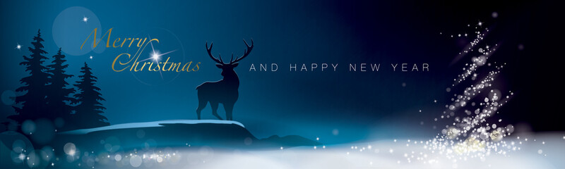 BANNER MERRY CHRISTMAS AND HAPPY NEW YEAR