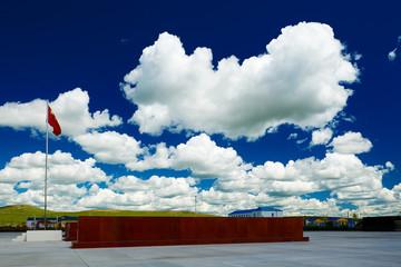 The beautiful cloudscape of Hulunbuir grassland of China.