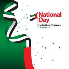 National Day United Arab Emirates Vector Template Design Illustration