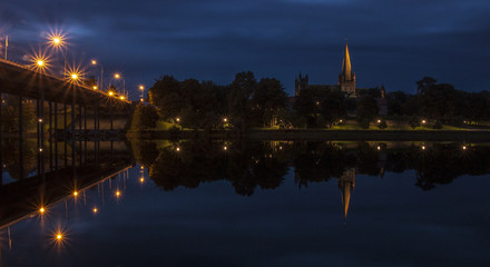 Nidarosdomen Trondheim by night