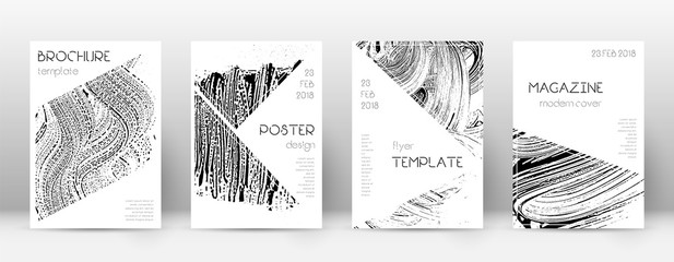 Cover page design template. Triangle brochure layout. Awesome trendy abstract cover page. Soap inver