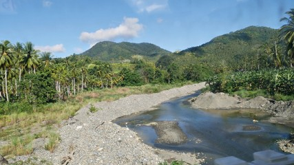 Davao Oriental landscape, Philippines Rivers, mountains and forests make up most of Davao Oriental's landscape.