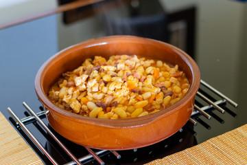 Traditional Portuguese bean dish (feijoada transmontana)