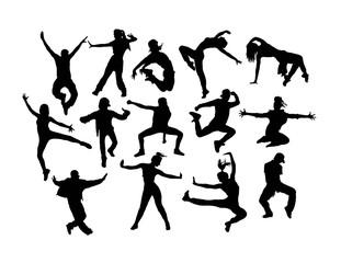 Happy Hip Hop Silhouettes, art vector design