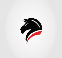 Sporty Horse Logo, art vector design
