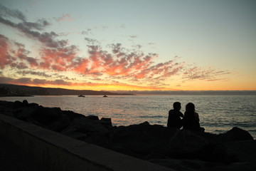 Sunset together in Viña