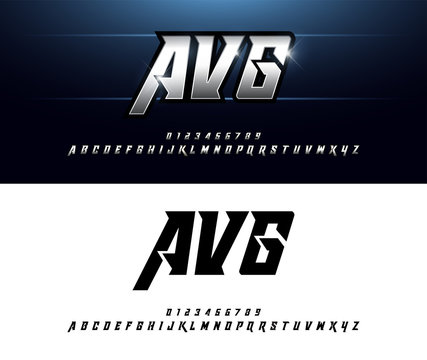 Alphabet silver metallic and effect designs. Elegant silver letters typography italic font. technology, sport, movie, and sci-fi concept. vector illustrator