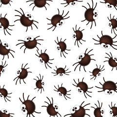 happy halloween spiders pattern background