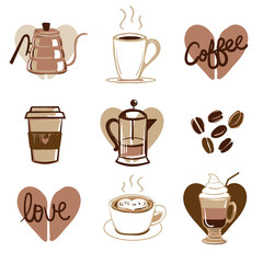 Vector Illustrated Coffee Icons