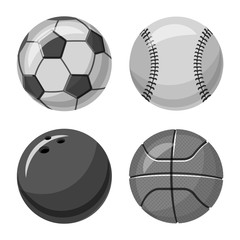 Isolated object of sport and ball icon. Set of sport and athletic stock vector illustration.