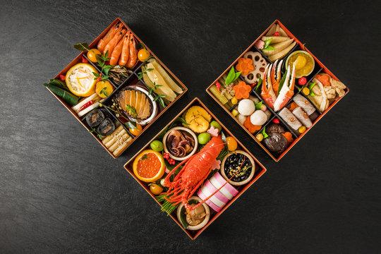 おせち料理 General Japanese New Year dishes(osechi)