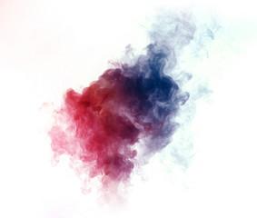 Colorful smoke on white background