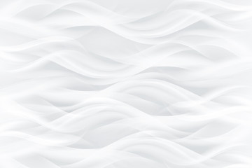 Waving white abstract background.