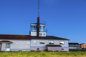 Old airport building in Saint Pierre