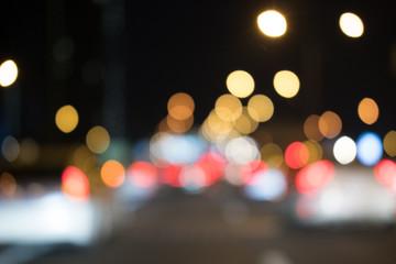 Bokeh and blurred light traffic light background.