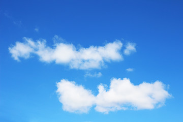 Beautiful clouds with blue sky background.