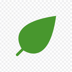 Eco icon green leaf vector illustration isolated on transparent background.