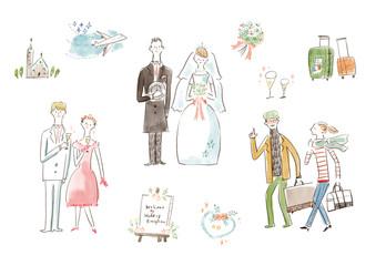 結婚式とハネムーン