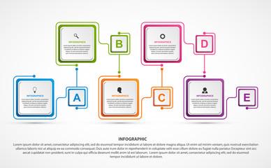 Business options infographics, timeline, design template for business presentations or information banner.