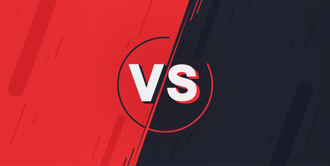Versus screen. Fight backgrounds against each other, red vs dark blue.
