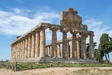 Temple of Athena (Minerva) in Poseidonia (Paestum), Campania, Italy