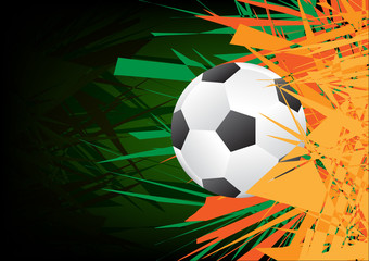Vector Abstract green color background with ball.
