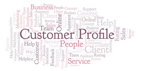 Customer Profile word cloud.