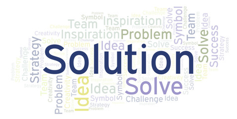 Solution word cloud.