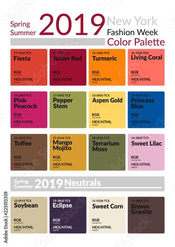 new york fashion week spring summer 2019 color palette colors of the year palette fashion. Black Bedroom Furniture Sets. Home Design Ideas