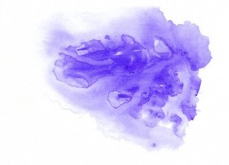 Purple watercolor gradient running stain. Beautiful abstract background for designers, mock-ups, invitations, postcards, web, canvas for text and congratulations.