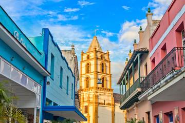 Nuestra Senora de la Soledad church and Spanish colonial colorfu