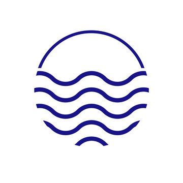 Water waves logo