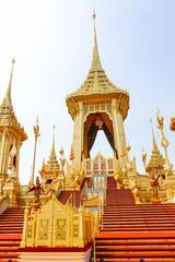 Bangkok, Thailand - November 04, 2017; The Royal Gold Crematorium for King Bhumibol Adulyadej in bangkok at November 04, 2017