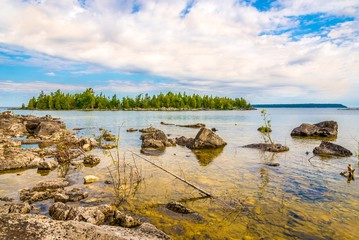 Wall Mural - View at the nature of Bruce Peninsula National Park near Dunks Point, Tobermory - Canada