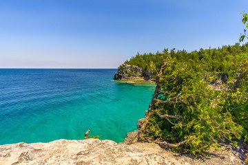 Wall Mural - View at the nature of Indian Head Cove in Bruce Peninsula National Park - Canada