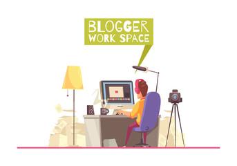 Blogging Work Space Background