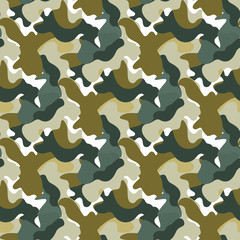 Vector Camouflage green and gray color seamless pattern. Khaki repeat como abstract background.