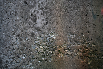 Surface of a concrete wall for a close-up background.
