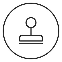 Stamp stroke icon, logo illustration. Stroke high quality symbol.