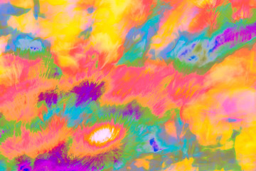 Abstract psychedelic picture in yellow, red, green, white etc.. Can be used separately or to create gif animations, videos etc.