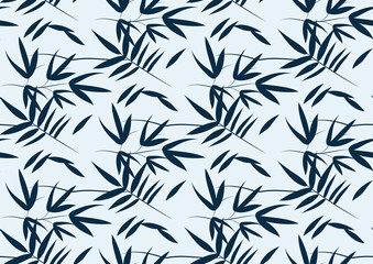 seamless pattern with bamboo leaves