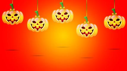 Hanging Halloween Pumpkins