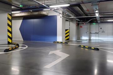 Underground parking/garage. interior of parking Fototapete