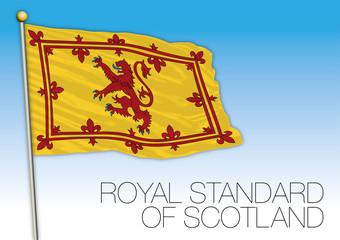 Royal standard of Scotland flag, United Kingdom, vector illustration